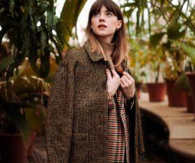 Girl in the botanical garden Stock Photo