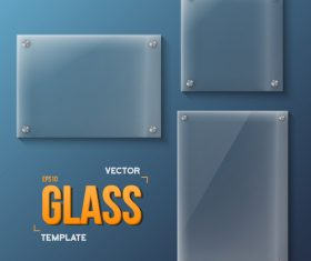 Glass template on the wall vector 02