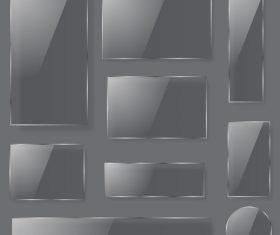 Glass transparent plates design vector 01