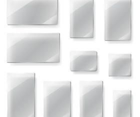 Glass transparent plates design vector 02