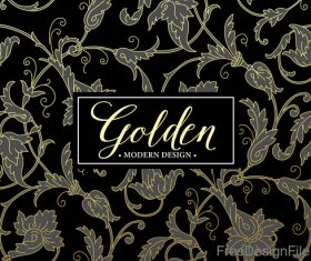 Golden oranments pattern elements vectors 01