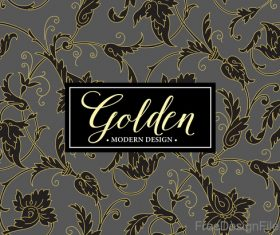 Golden oranments pattern elements vectors 02