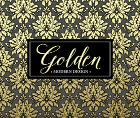 Golden oranments pattern elements vectors 03