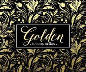Golden oranments pattern elements vectors 05