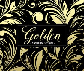 Golden oranments pattern elements vectors 07
