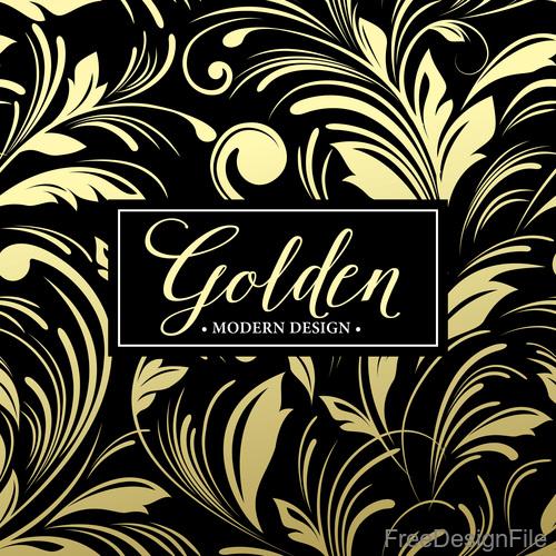 Golden oranments pattern elements vectors 07