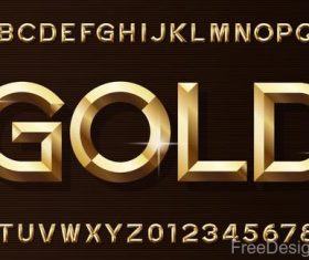 Golden shining numbers with alphabet vector