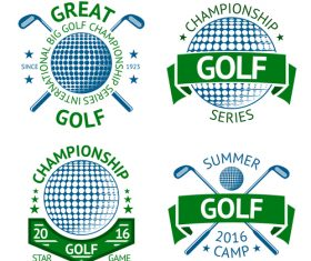 Golf logos design vector set