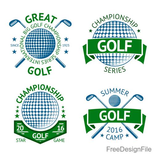 Golf logos design vector set