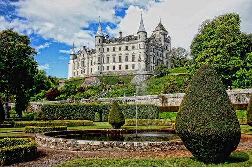 Gorgeous castle Stock Photo 06