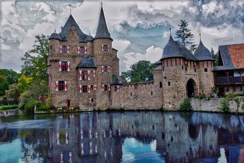 Gorgeous castle Stock Photo 09