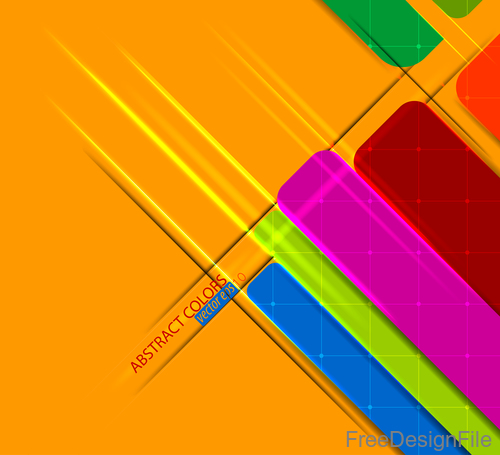 Graphic colors on yellow background vector