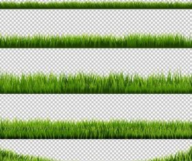 Green grass borders vector illustration 03