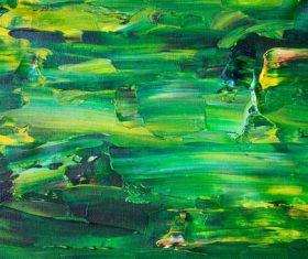 Green painting art closeup texture Stock Photo