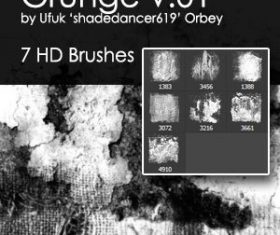 Grunge design HD Photoshop Brushes