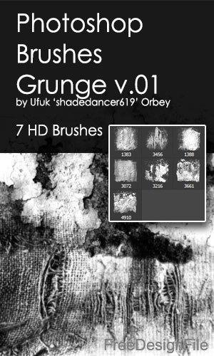 Grunge design HD Photoshop Brushes