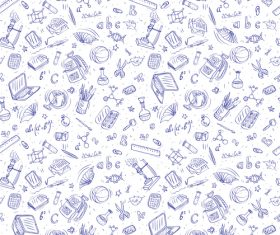 Hand drawn back to school pattern vectors 05