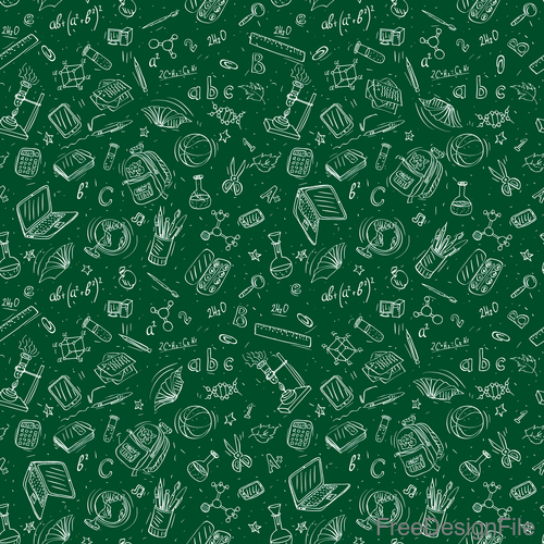 Hand drawn back to school pattern vectors 06
