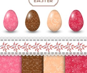Hand drawn pattern with easter egg vector