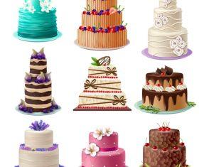 Happy birthday cake vector illustration