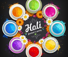 Holi festival party background vector design