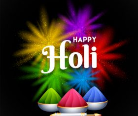 Holi festival with shiny colored backgorund vector