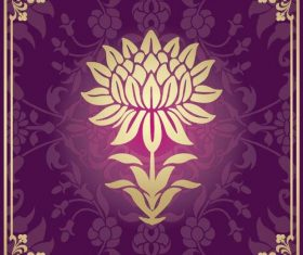 Indian traditional style purple decorative background vector 04