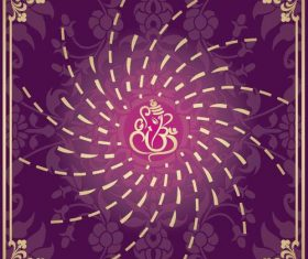 Indian traditional style purple decorative background vector 13