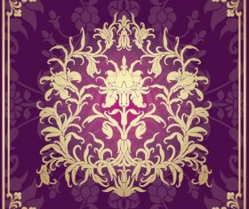 Indian traditional style purple decorative background vector 15