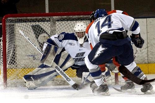 Intense ice hockey match Stock Photo 06