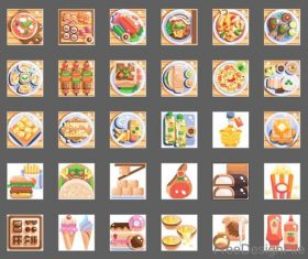 International food Flat icons