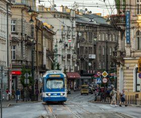 Krakow city landscape Poland Stock Photo 02