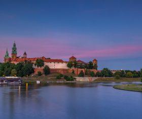 Krakow city landscape Poland Stock Photo 03