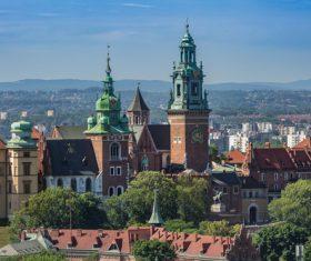 Krakow city landscape Poland Stock Photo 05