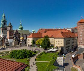Krakow city landscape Poland Stock Photo 06