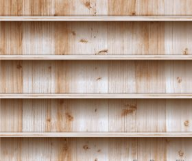 Light color wooden shelf vector