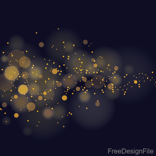 Light glowing effect with blurs background vector 01