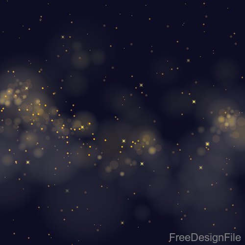 Light glowing effect with blurs background vector 03