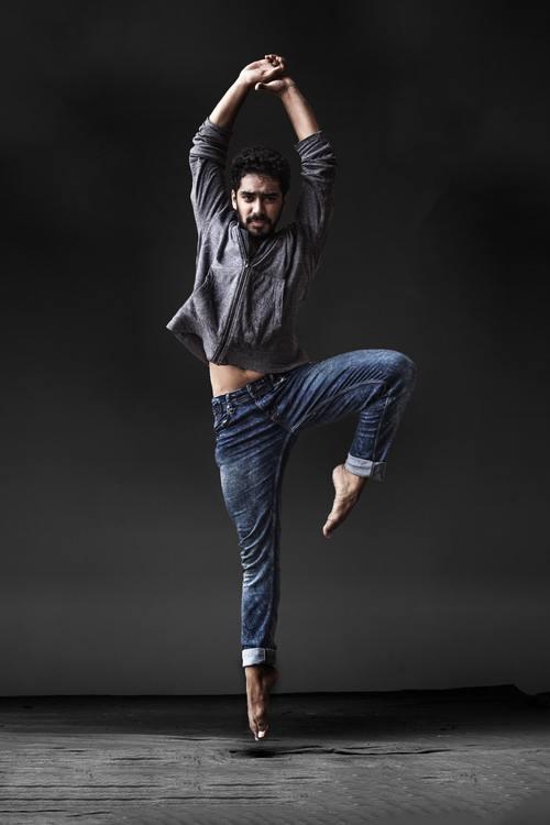 Man dancing ballet Stock Photo