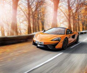 McLaren orange supercars Stock Photo