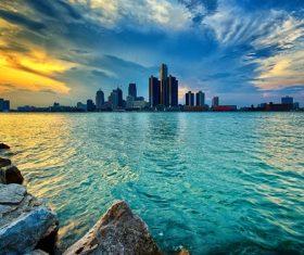 Michigan Cityscape Stock Photo 05