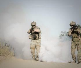 Military exercises Stock Photo 01