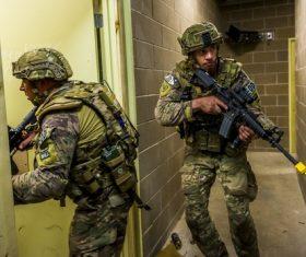Military exercises Stock Photo 03
