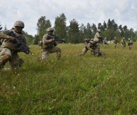Military exercises Stock Photo 04