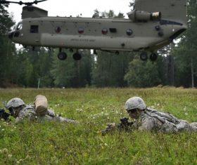 Military exercises Stock Photo 08