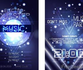 Modern music party poster template vector