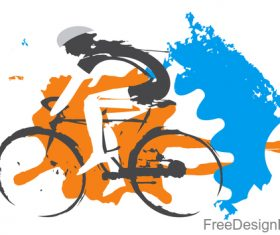 Mountain bike race design vectors 01
