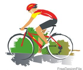 Mountain bike race design vectors 02