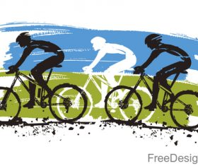 Mountain bike race design vectors 03