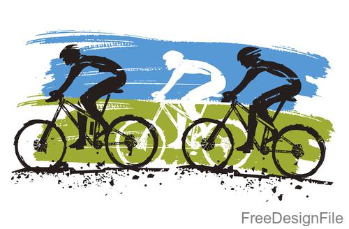 Mountain bike race design vectors 03